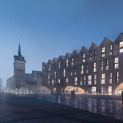 Play time architectonic image eova studio mall and office building gdansk 2n prize 01