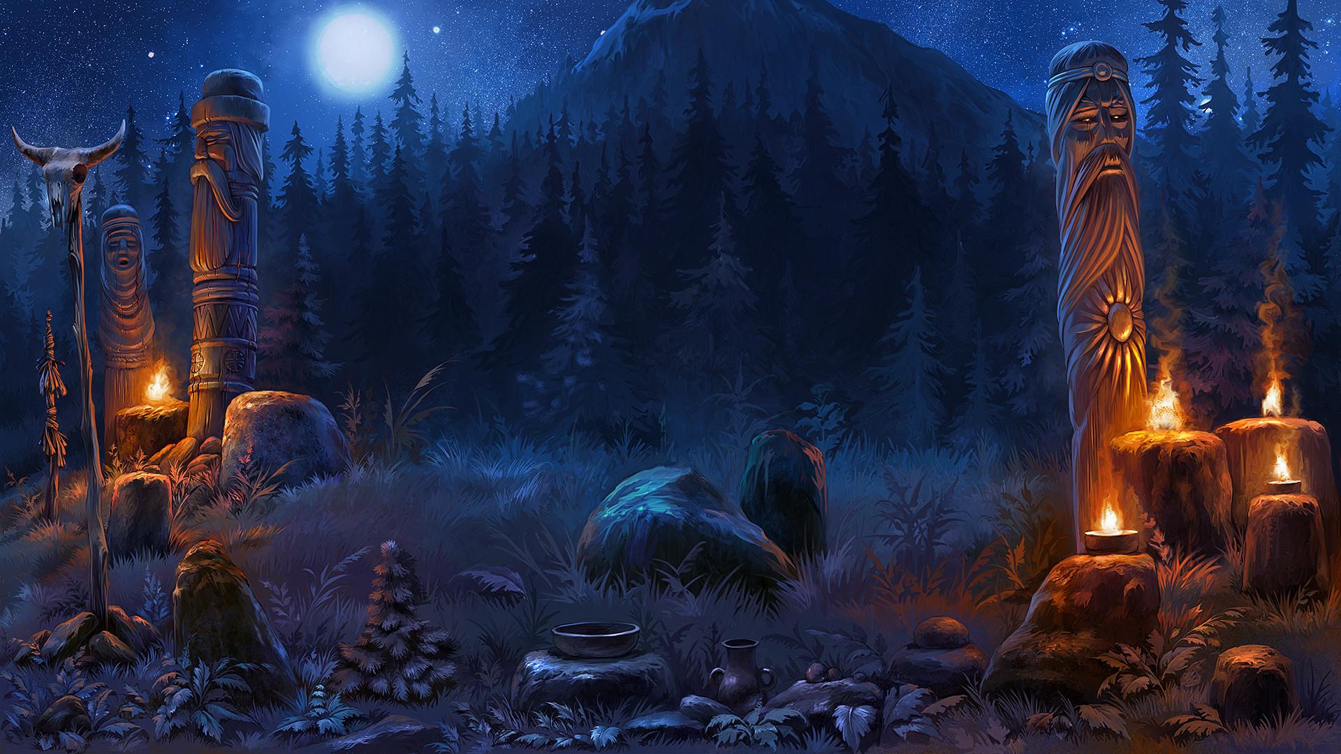 artstation game background mikhail emelianov