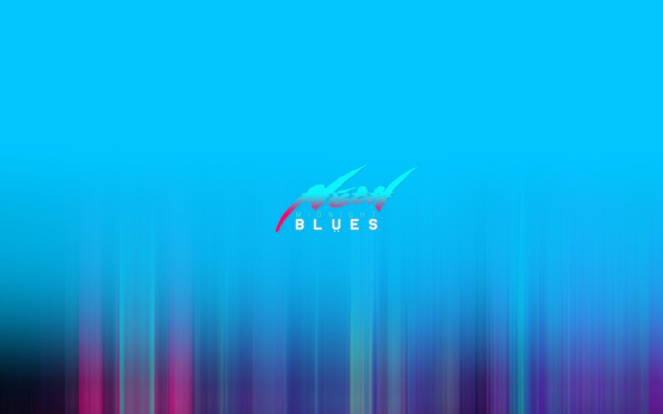 "NEON MIDNIGHT BLUES title design | originally ""neon overdrive blues"".. feel that the new one sounds more clean .. haha"