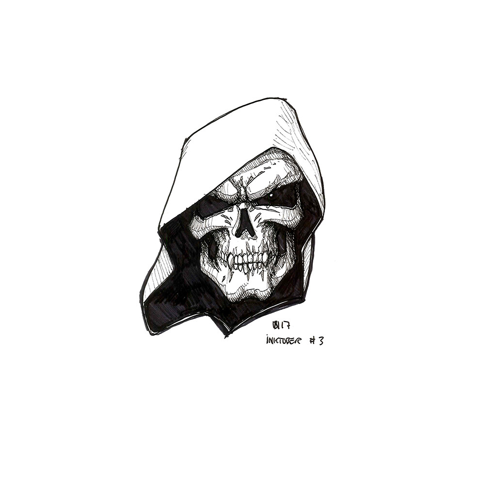 Inktober day 3. Tribute to childhood with Skeletor.
