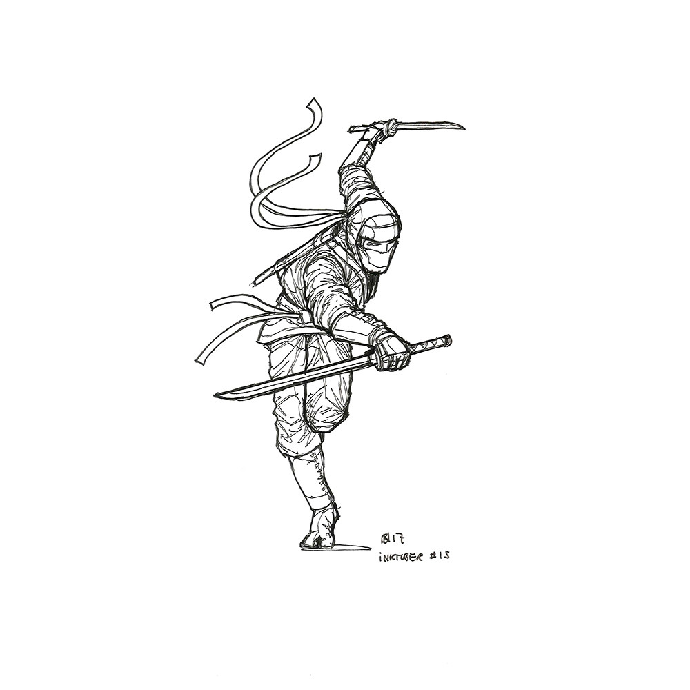 Inktober day 15. The last ninja.