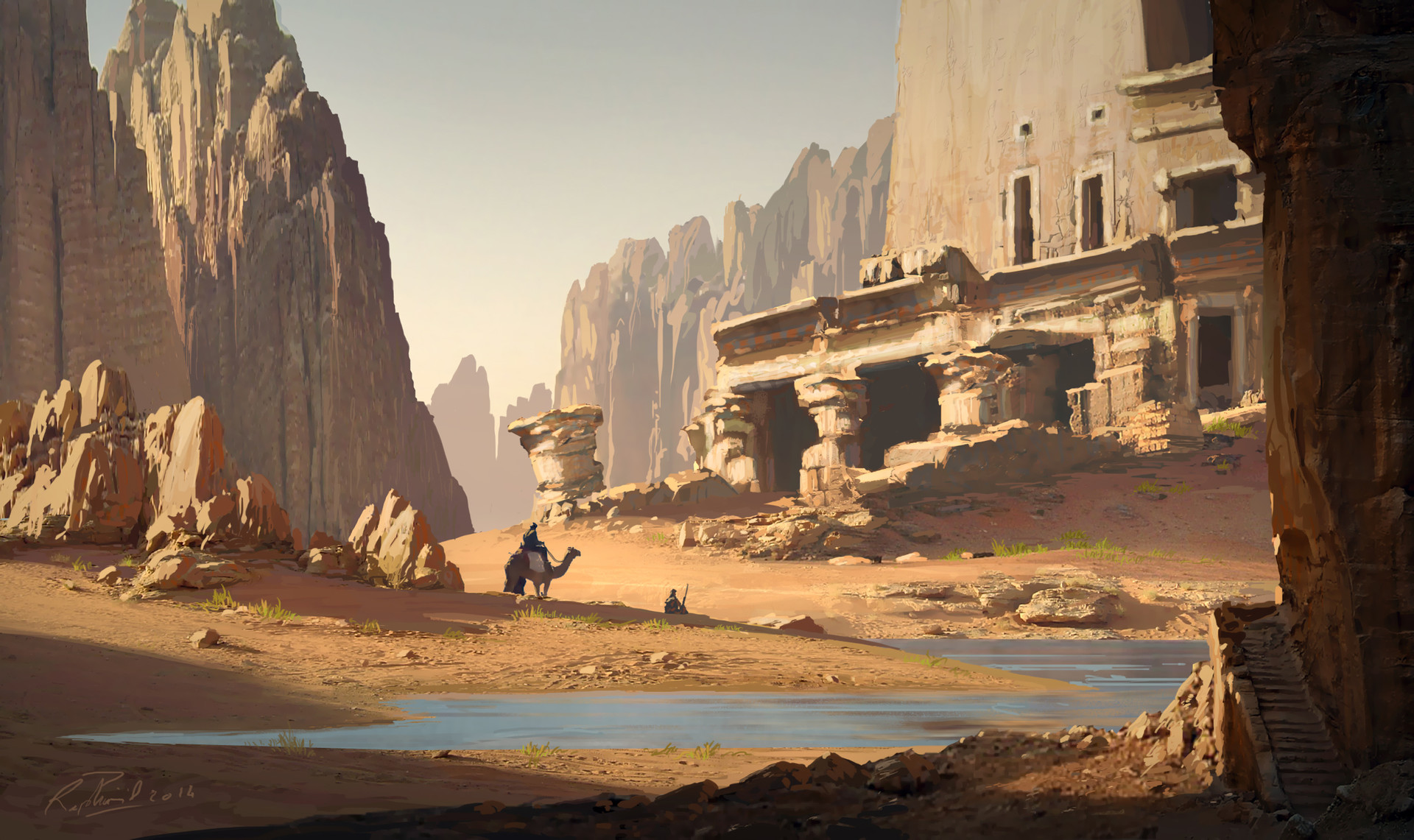 raphael lacoste ruins in the desert