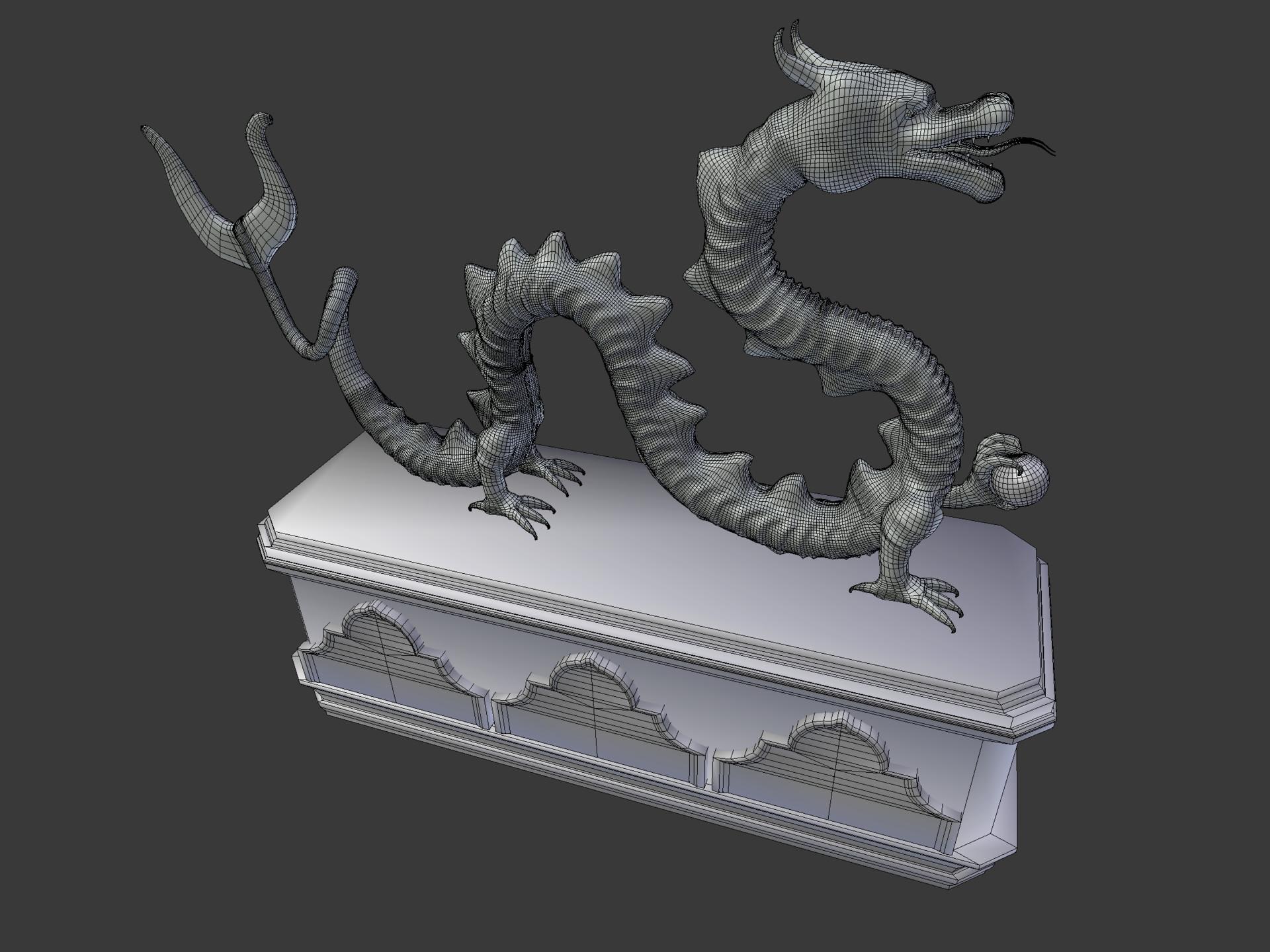 ArtStation - Glass Dragon Statue, Adam Dodgen