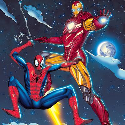James beihl spiderman ironman colors version1 2