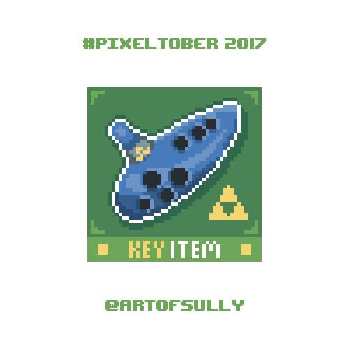 #pixeltober - Day 26 - 'Ocarina (The Legend of Zelda)'