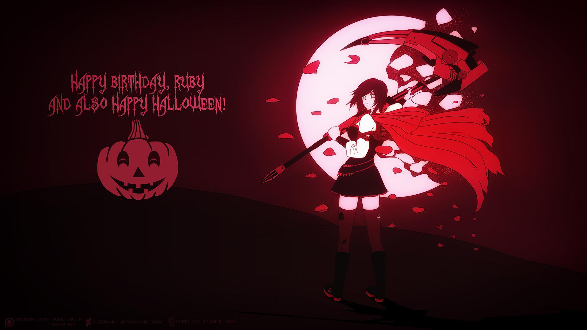 Artstation Happy Halloween Birthday Ruby Rita T