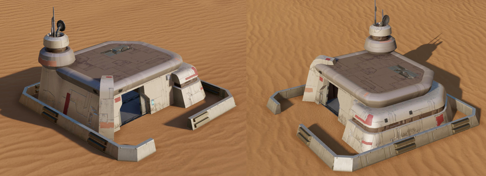 I modeled and textured this bunker unit (running in the SimCity 2013 engine upgraded to support a PBR pipeline)