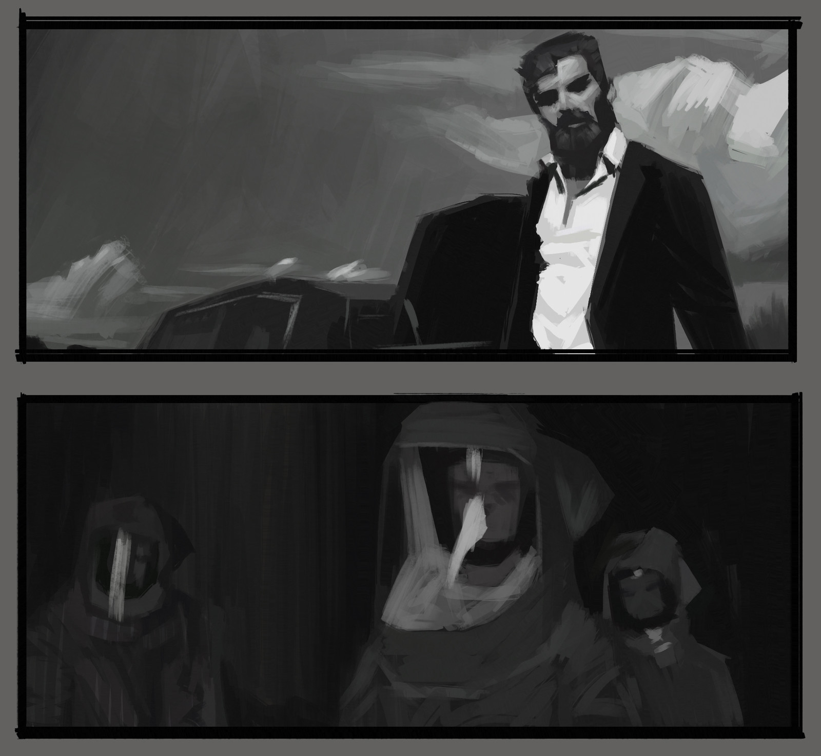 Cinematic Visual Structure Sketches