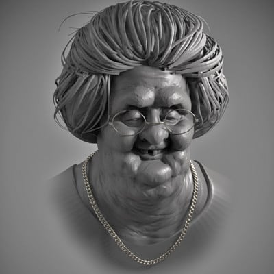Old granny 3 hours speed sculpt