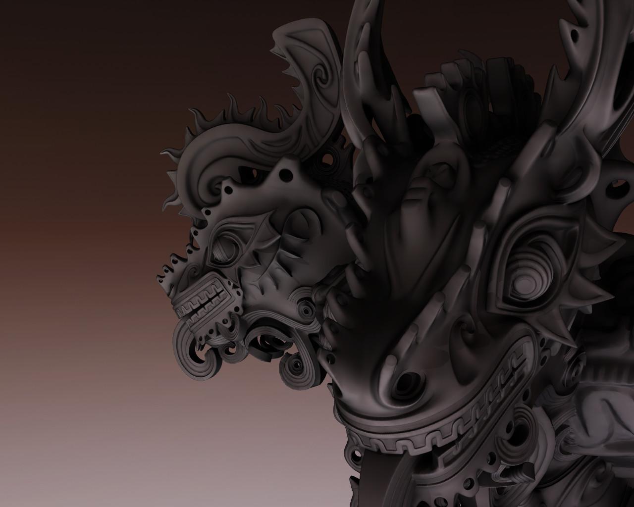 """Gozuryu""(five head dragon) for 3D printing"