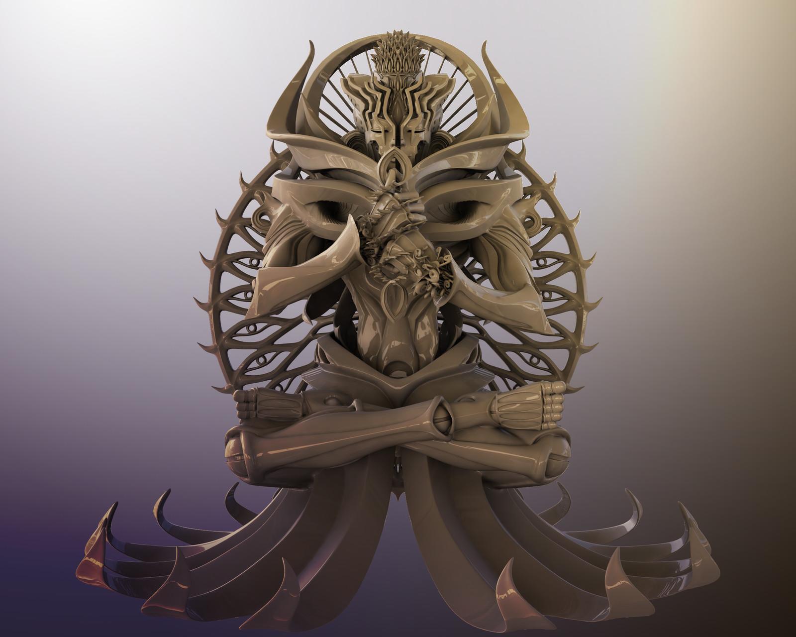 """Mahavairocana"" for 3D printing"