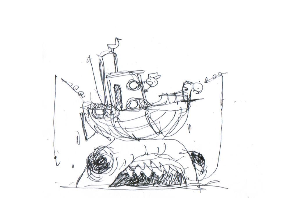 Inktober 2017 #25 Ship thumbail sketch