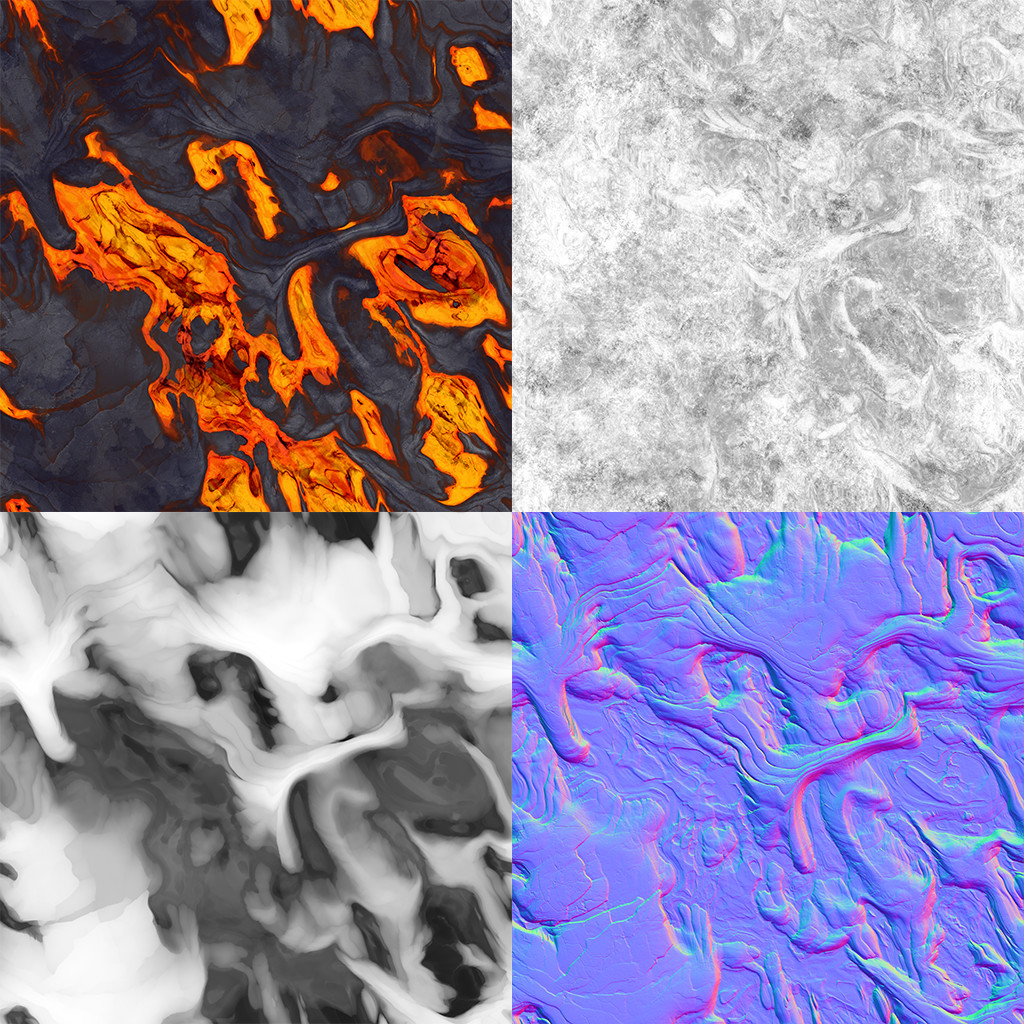 Felipe sanin lava textures breakdown
