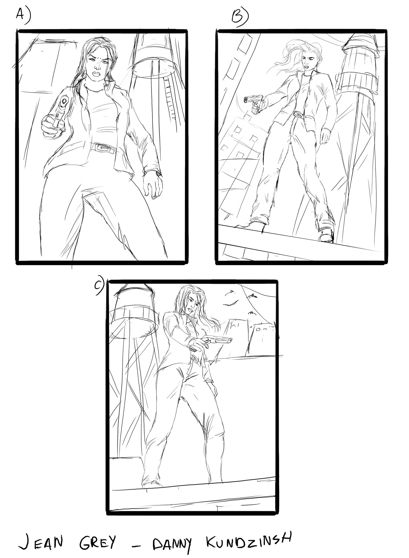 Danny kundzinsh jean grey sketches