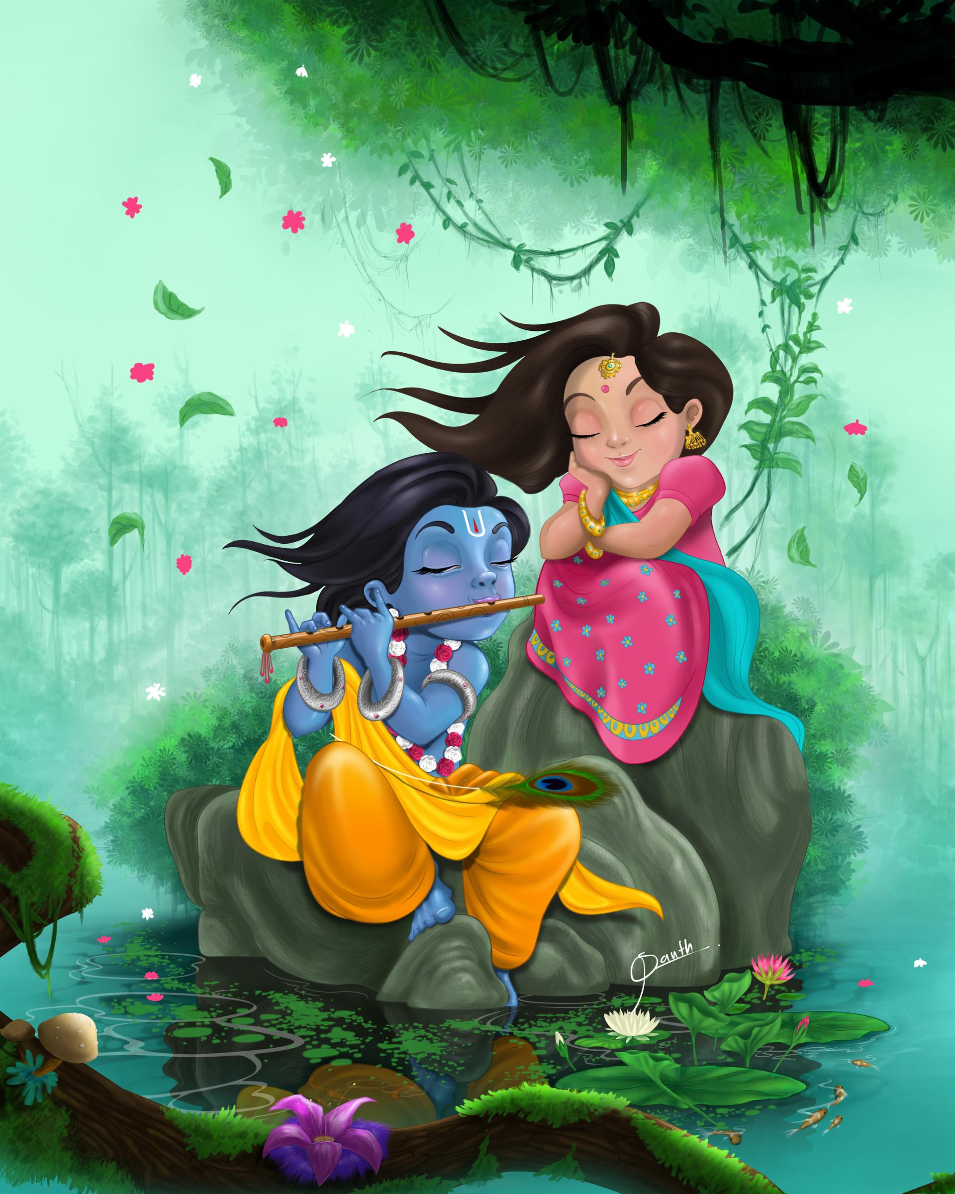 Artstation Radha Krishna 1 Santh Thapa