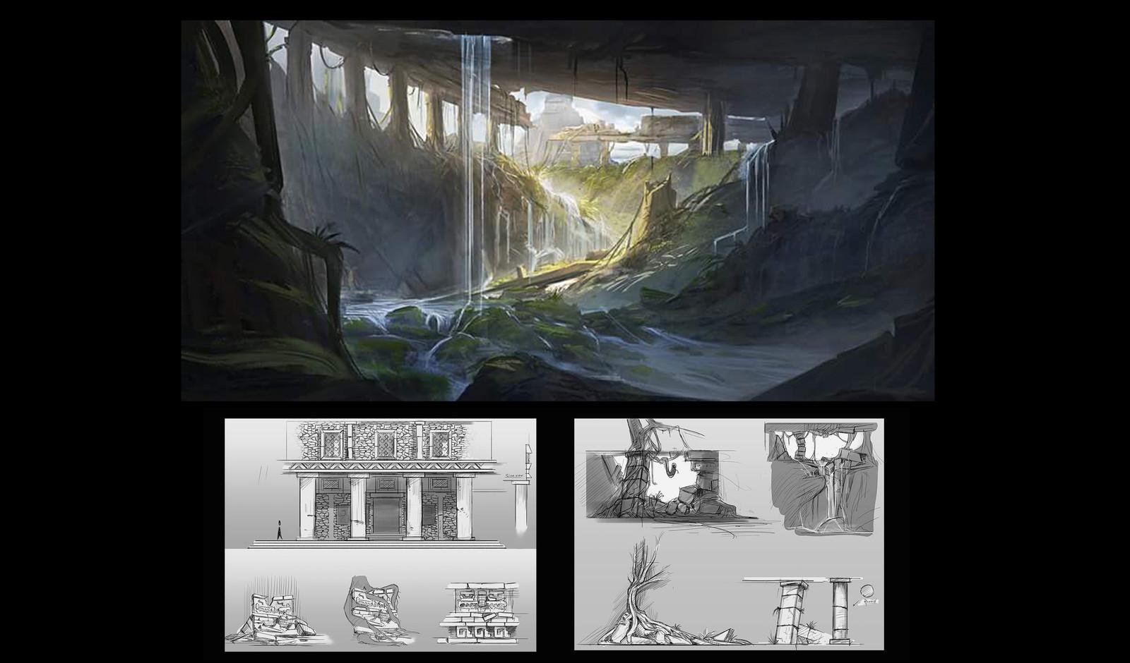Ruins sketches