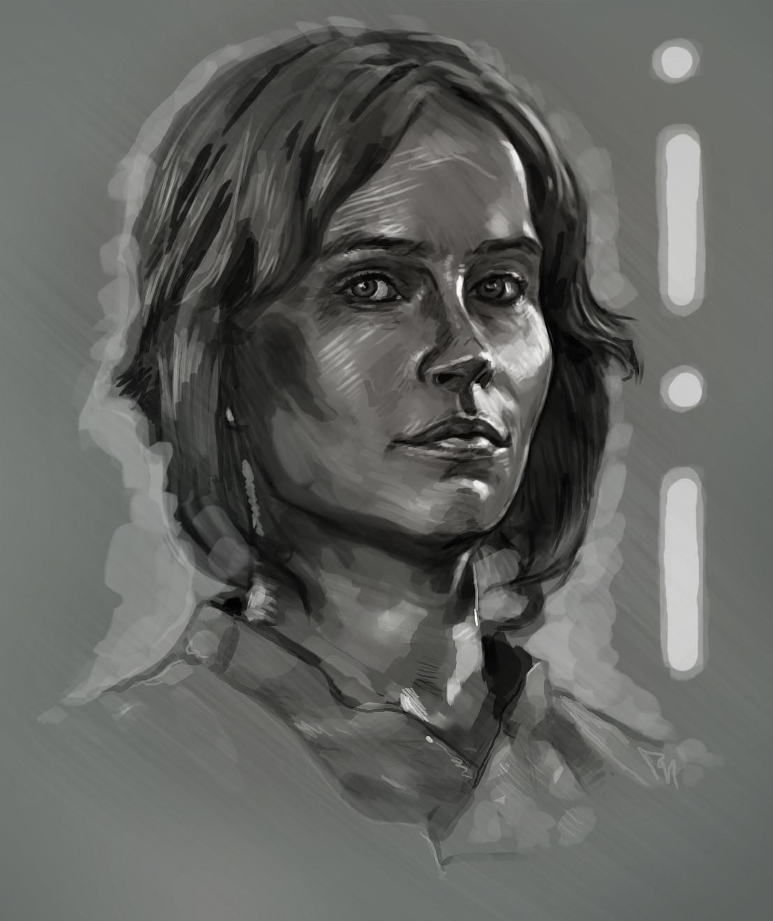 Jyn Orso. Digital sketch.