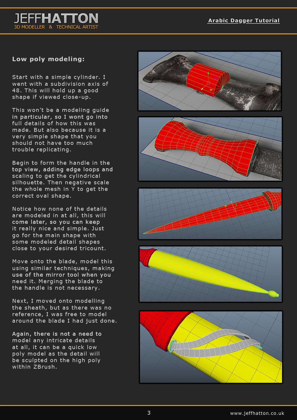ArtStation - Arabic Dagger Breakdown Tutorial, Jeff Hatton