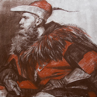 Pavel goloviy portrait of man medieval cosplay
