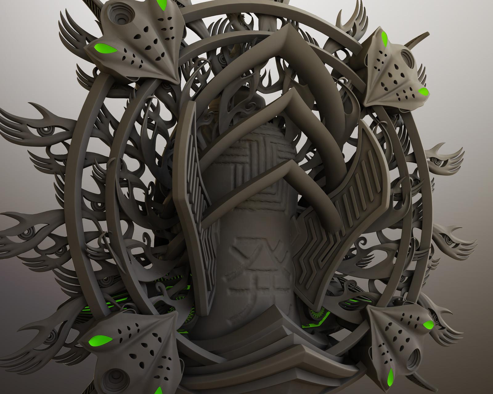 """""""金手観音"""" for 3D printing"""