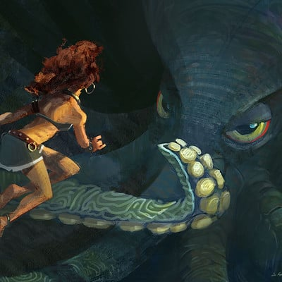 Woman & Octopus