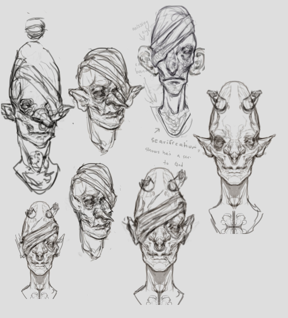 Madeline buanno creature sketches