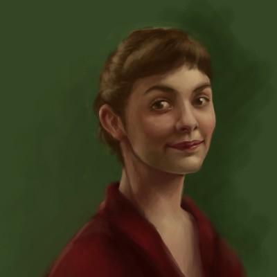 Laia aubao amelie portrait 01 wip07