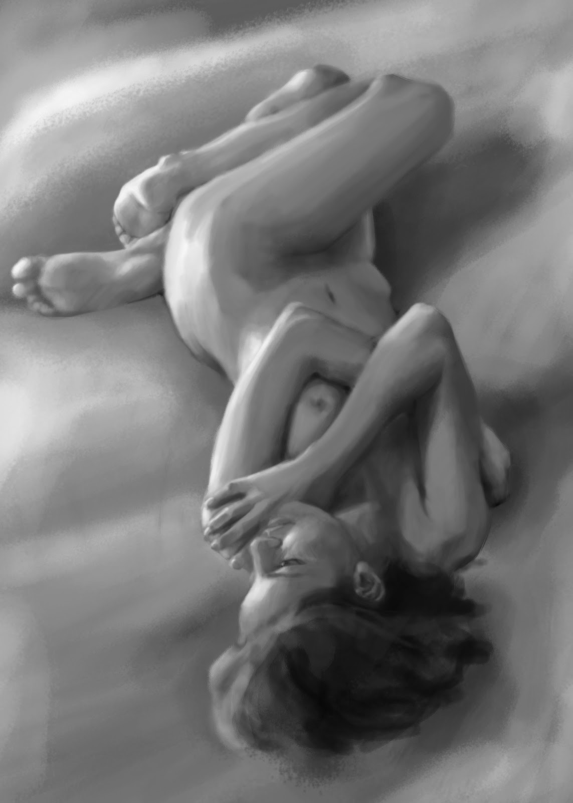 Figure Painting  - B&W