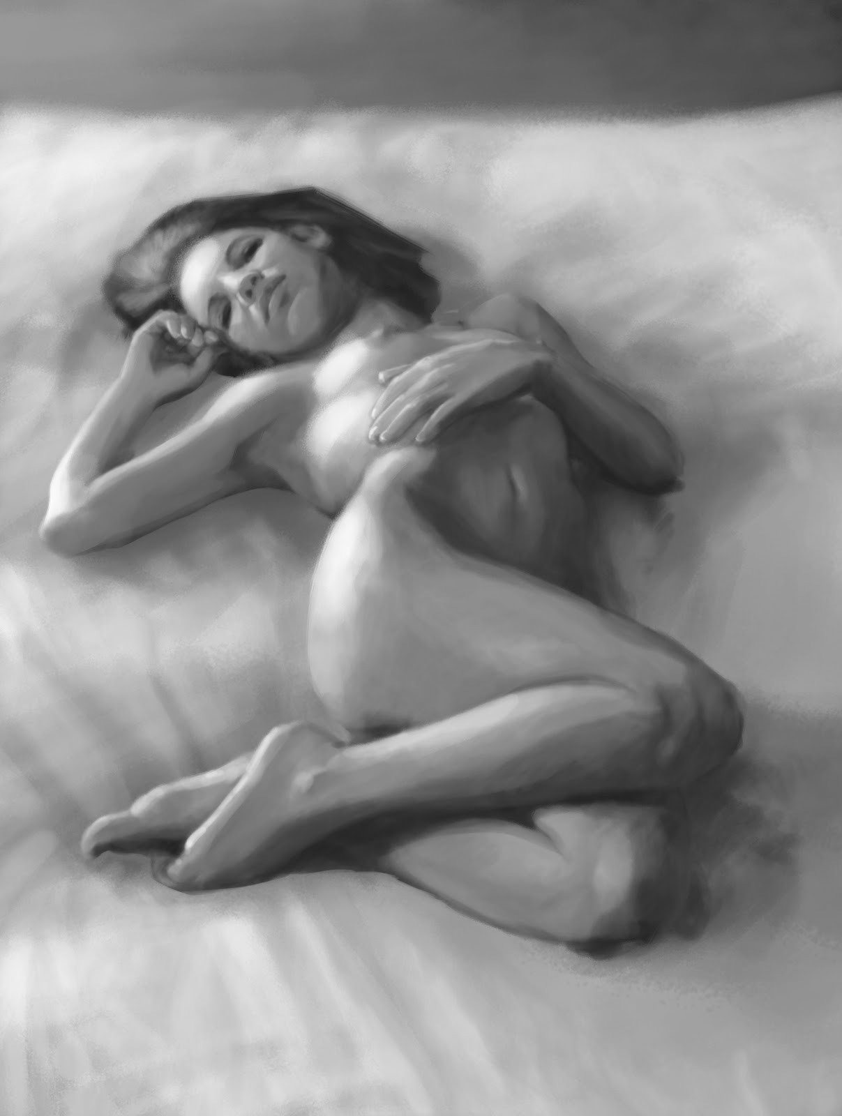 Figure Painting  - B&W (Sorry I can´t find the original source for the Reference)
