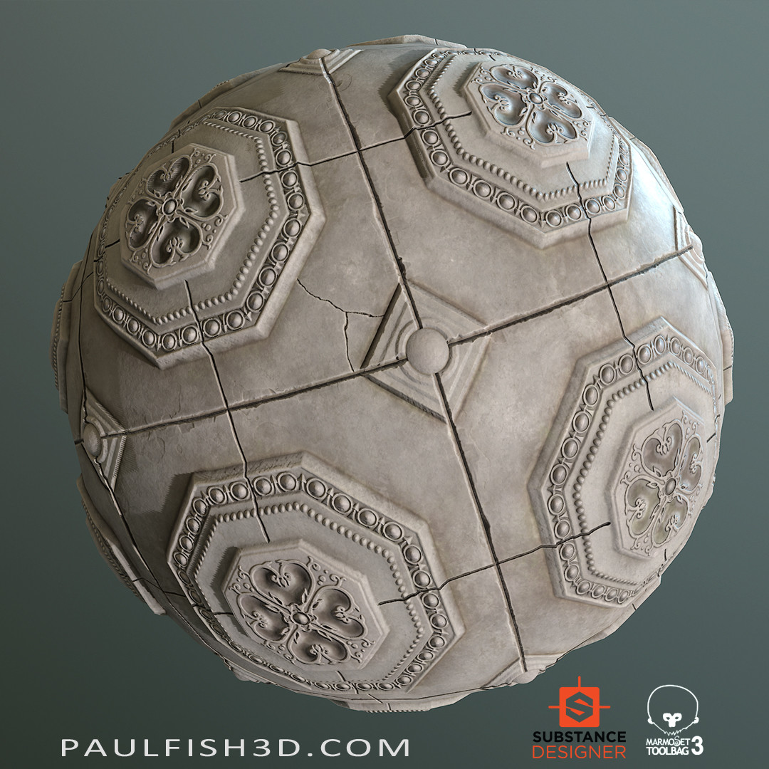 Substance Designer - Ornamental Stone Tiles