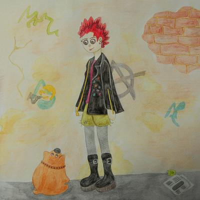 Audrey schindler character design challenge septembre2017 punk