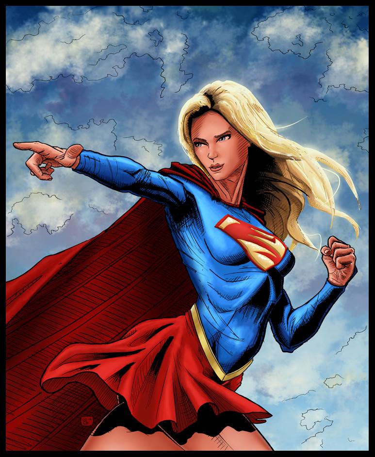 Elie bongrand 100 supergirl couleur et ink