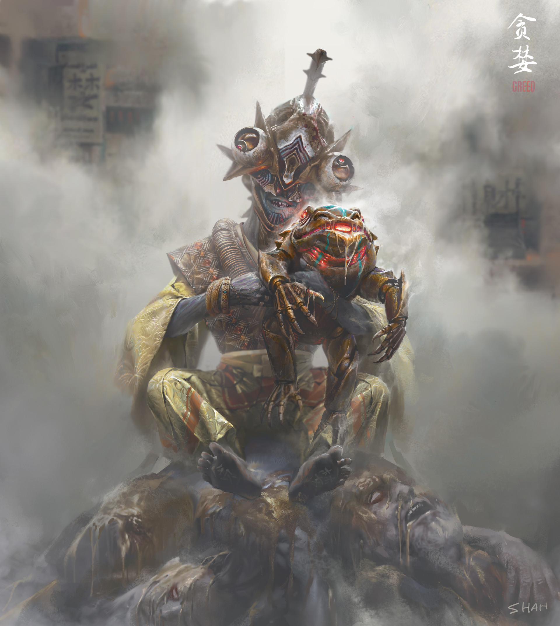 Shan qiao greed render