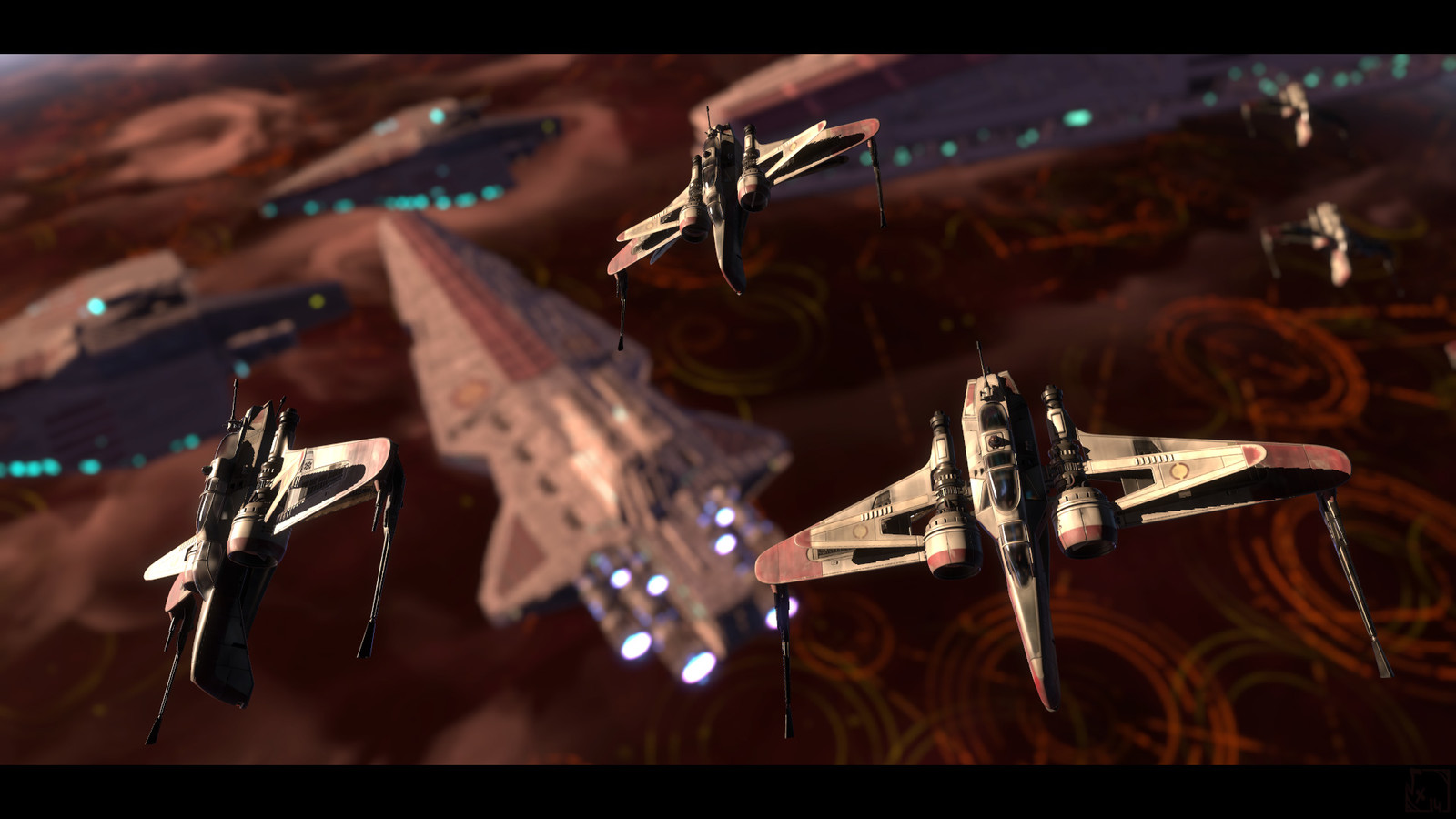 Flying Over Coruscant...=)