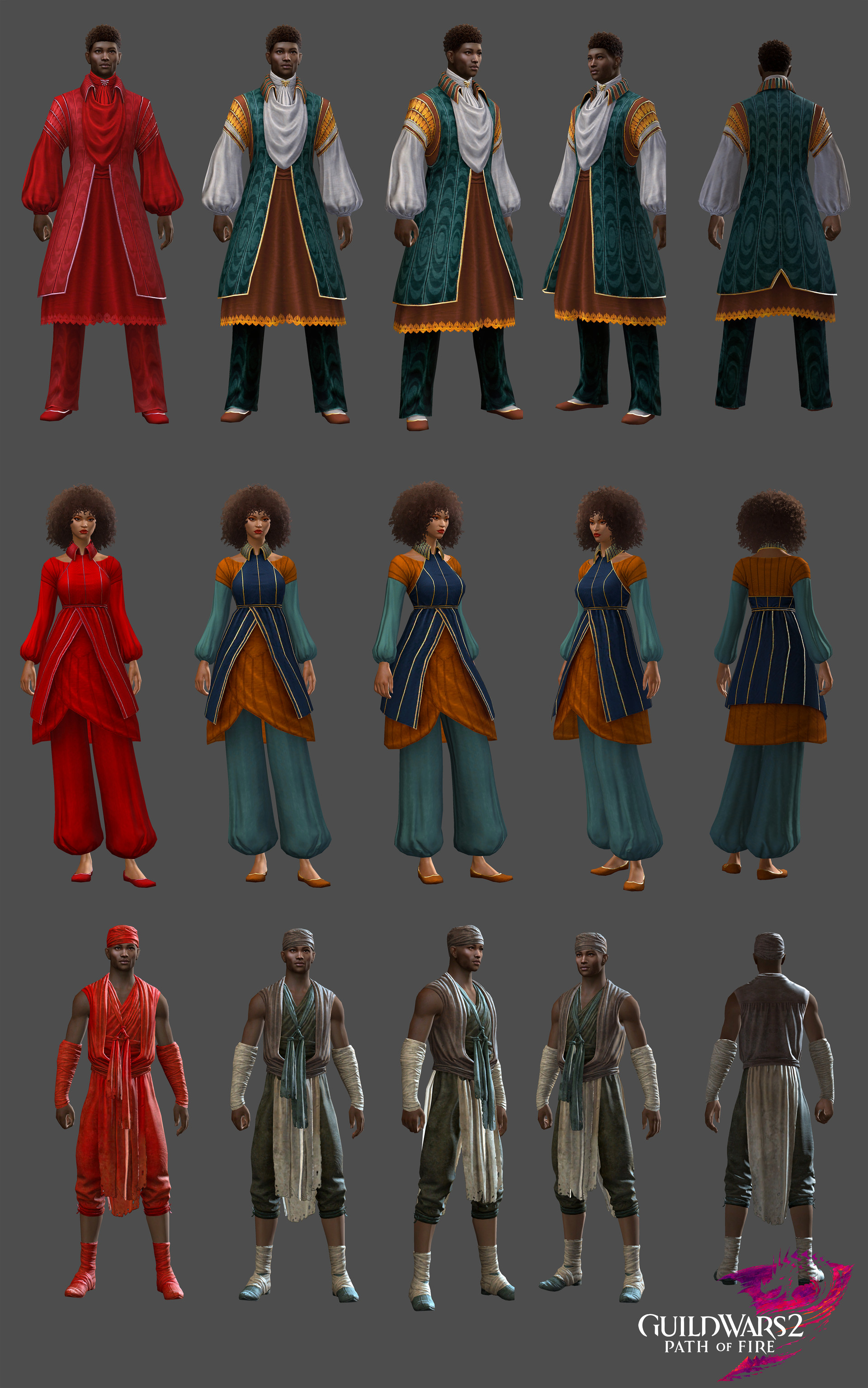ArtStation - Outfits GW2 - Path of Fire, Vanessa Le