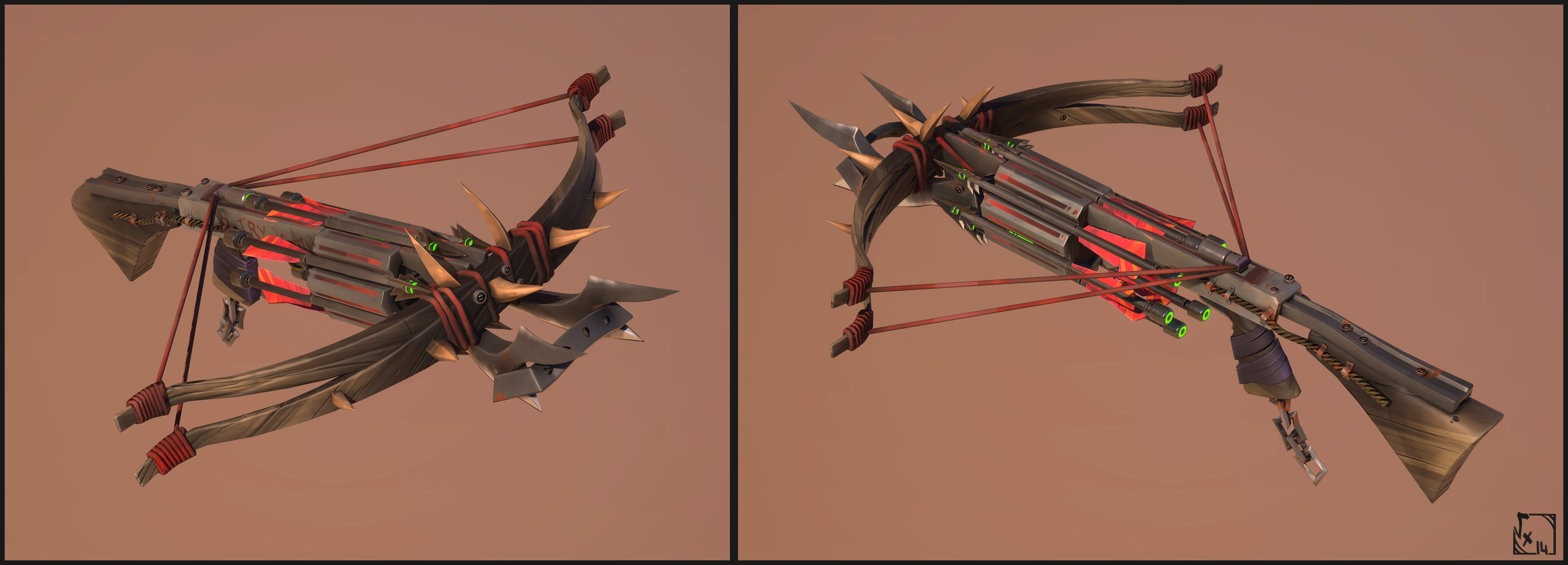 CrossBow - Not implemented yet ( but almost ), rigged on akeytsu and made on 3dsmax/3DCoat