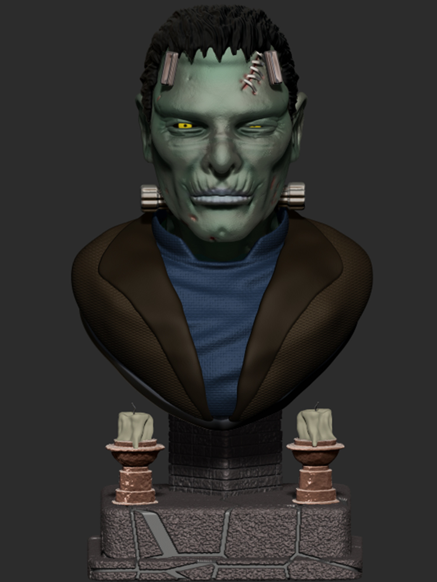 Josh simon frankenstein bust final 1
