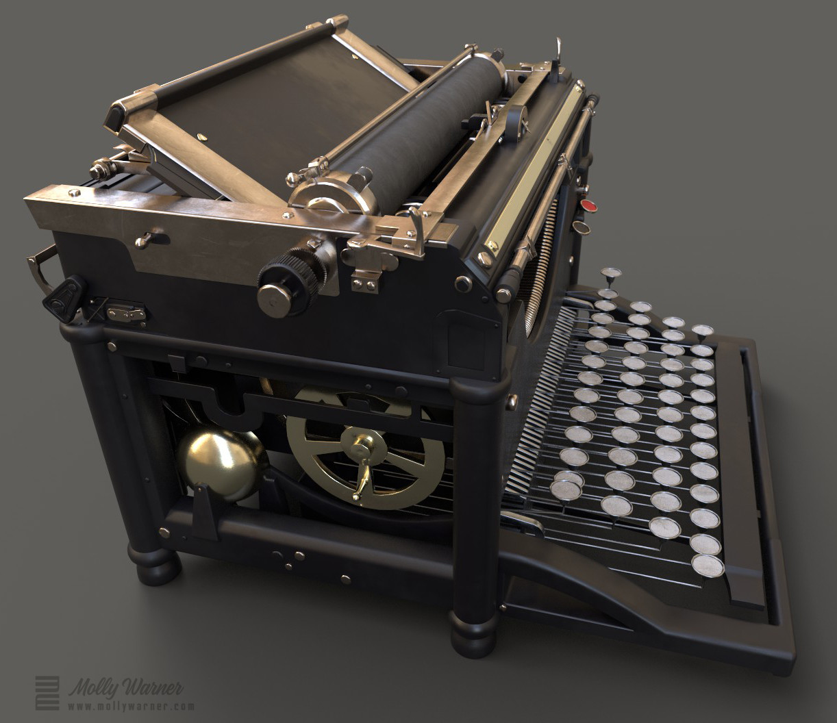 Molly warner iray render typewriter side final
