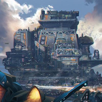 Alberto besi sci fi skyline ships 200dpi