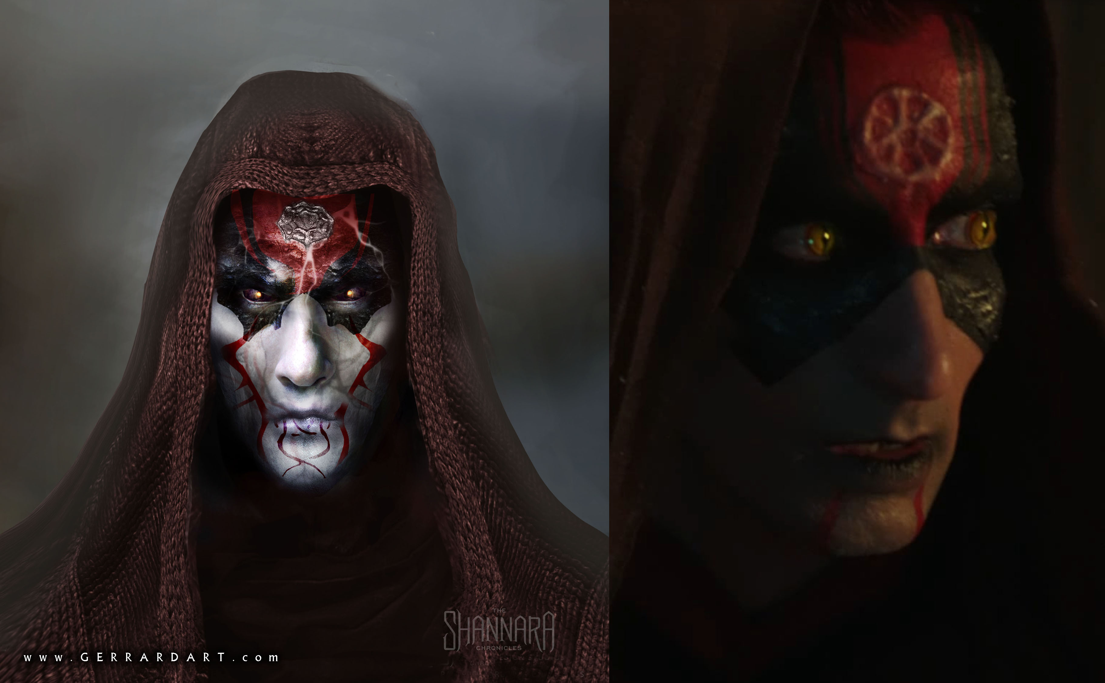 SKULL BEARERS concept to screen comparison.