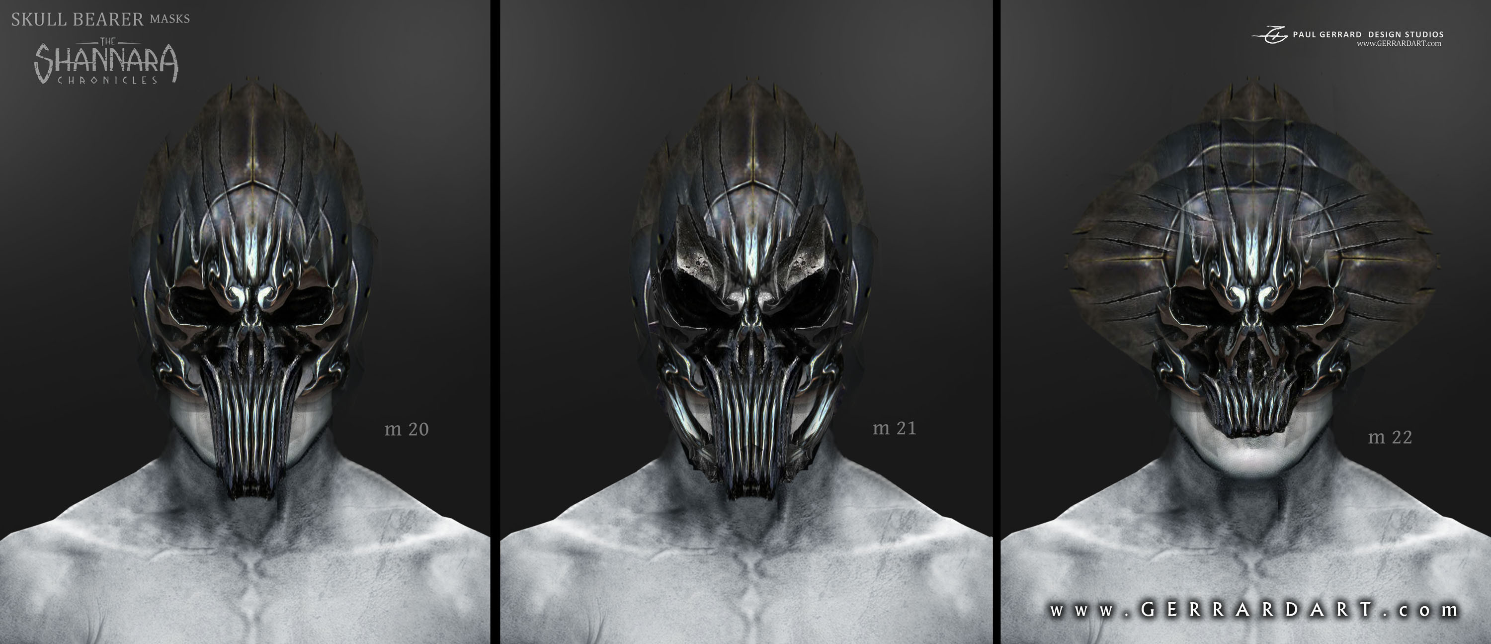 Concept designs for the Wraith mask