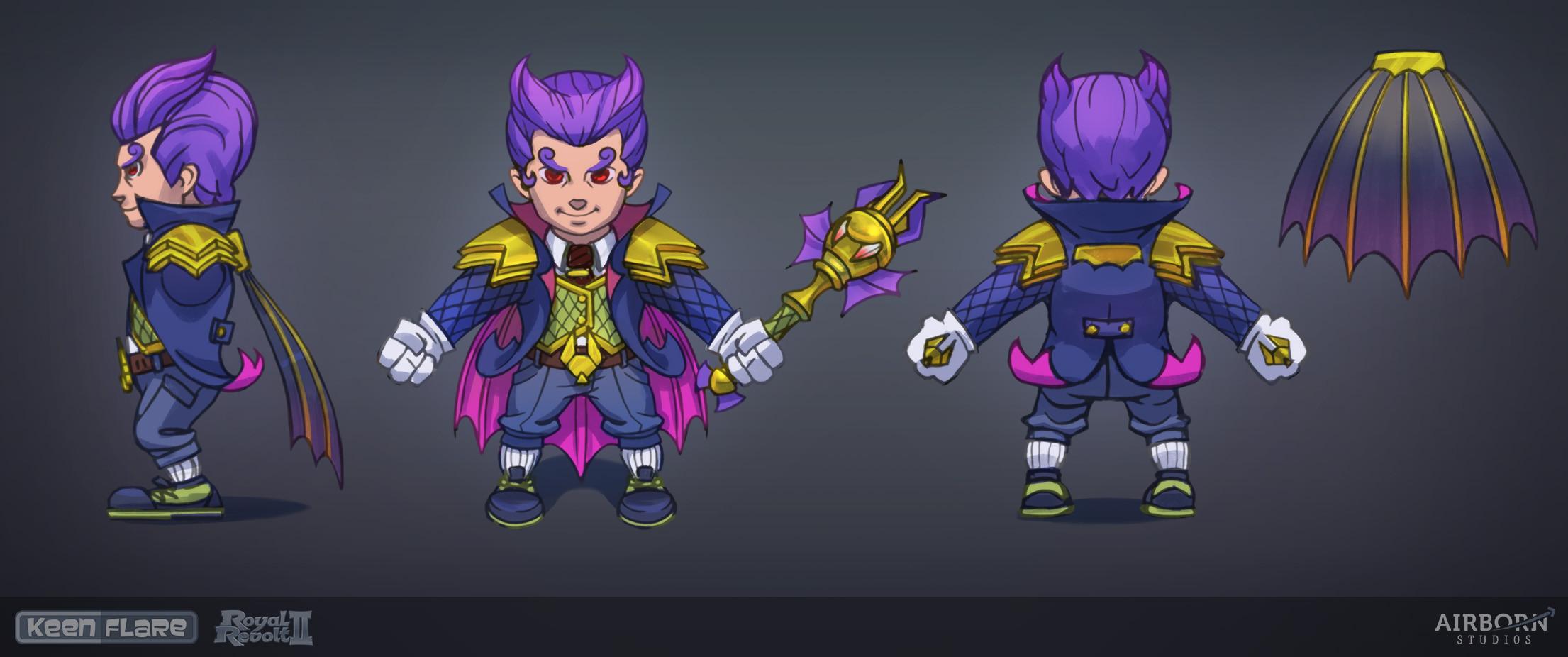 Royal Revolt 2: Halloween hero set (final concept)