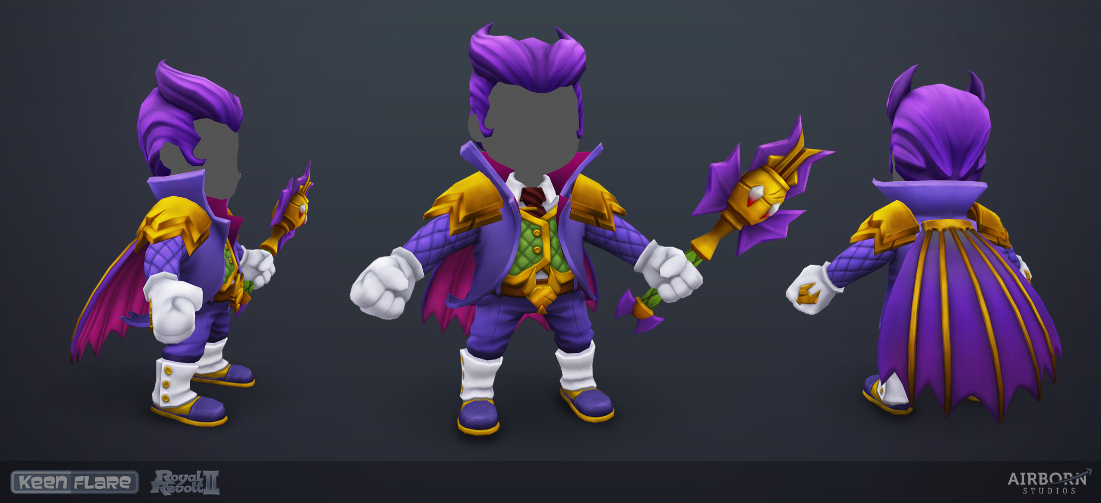 Royal Revolt 2: Halloween hero set (final model)