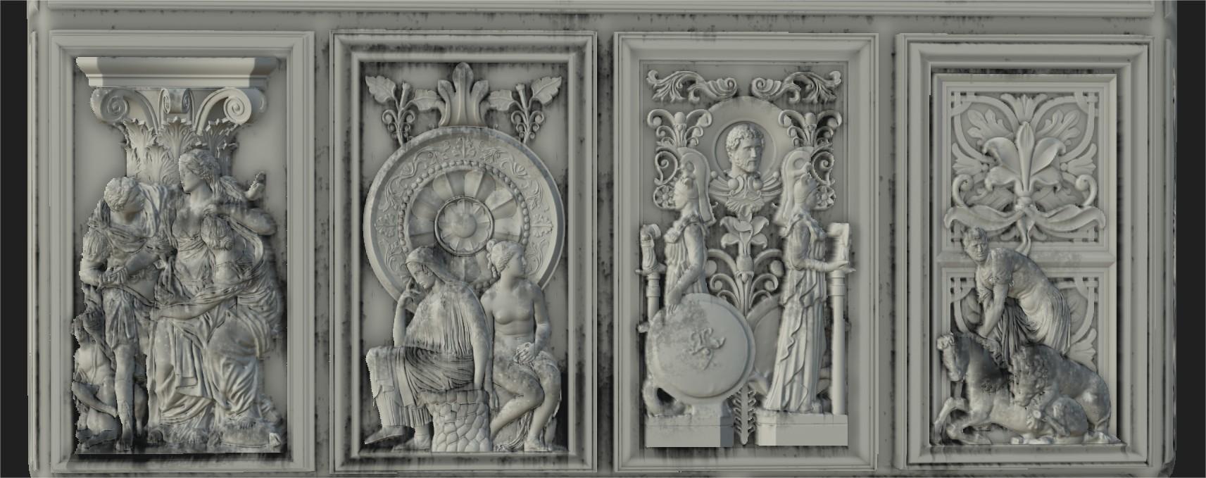 Roman Statue Frieze
