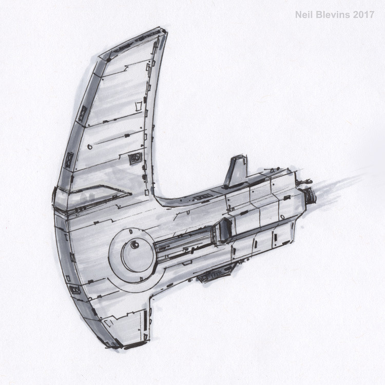 Neil blevins the hornet line sketch