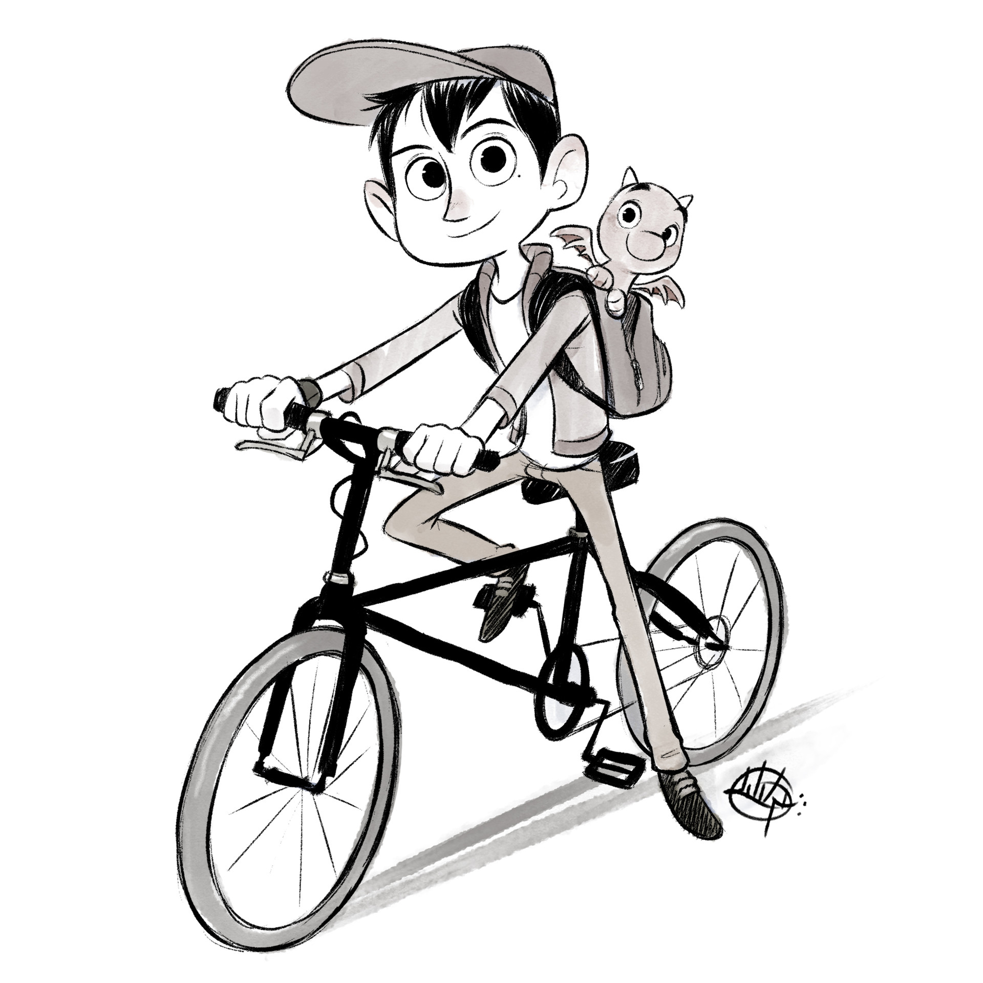 Luigi lucarelli cycle kid and his dragon