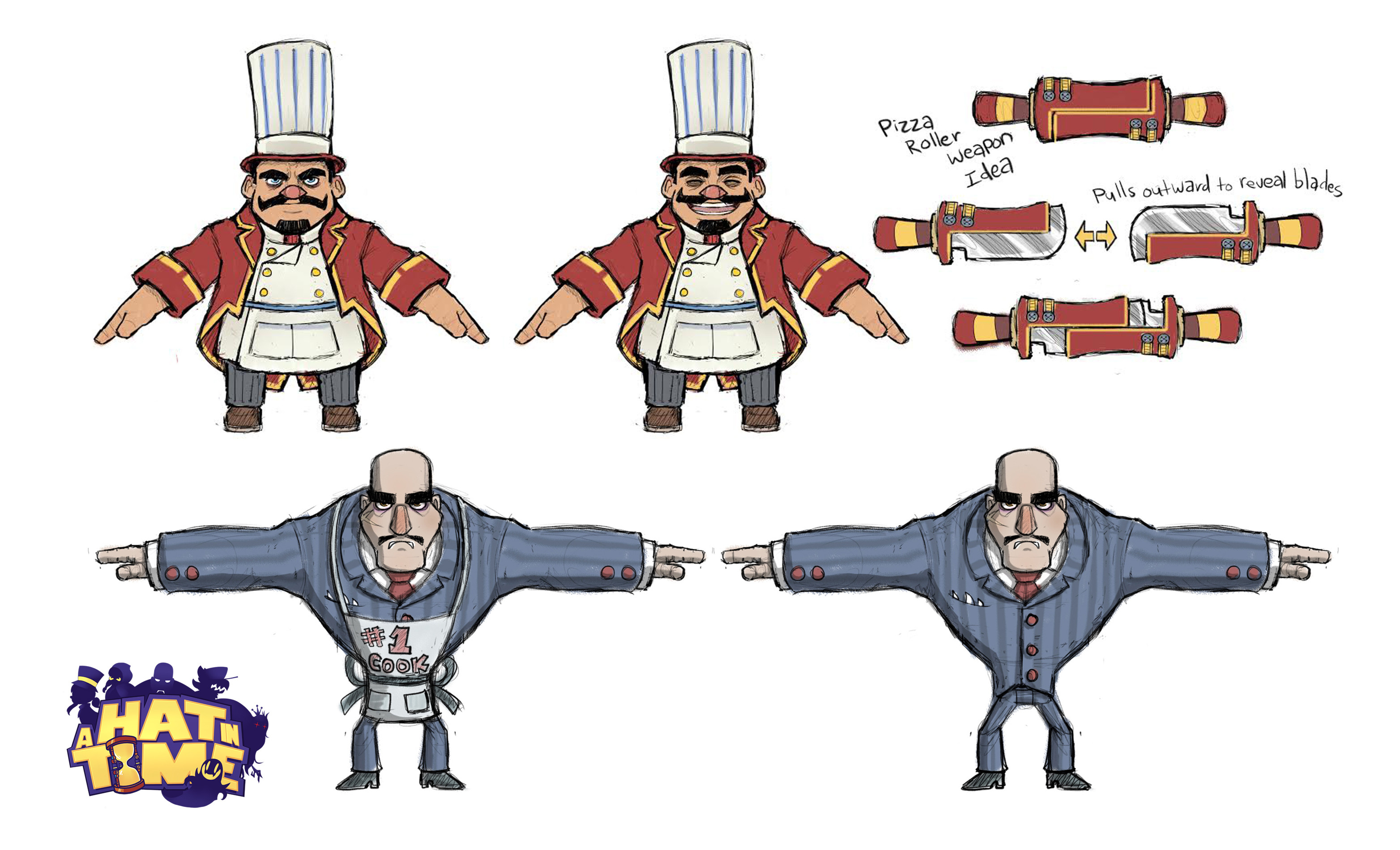 Mafia Boss and Goons Character Design