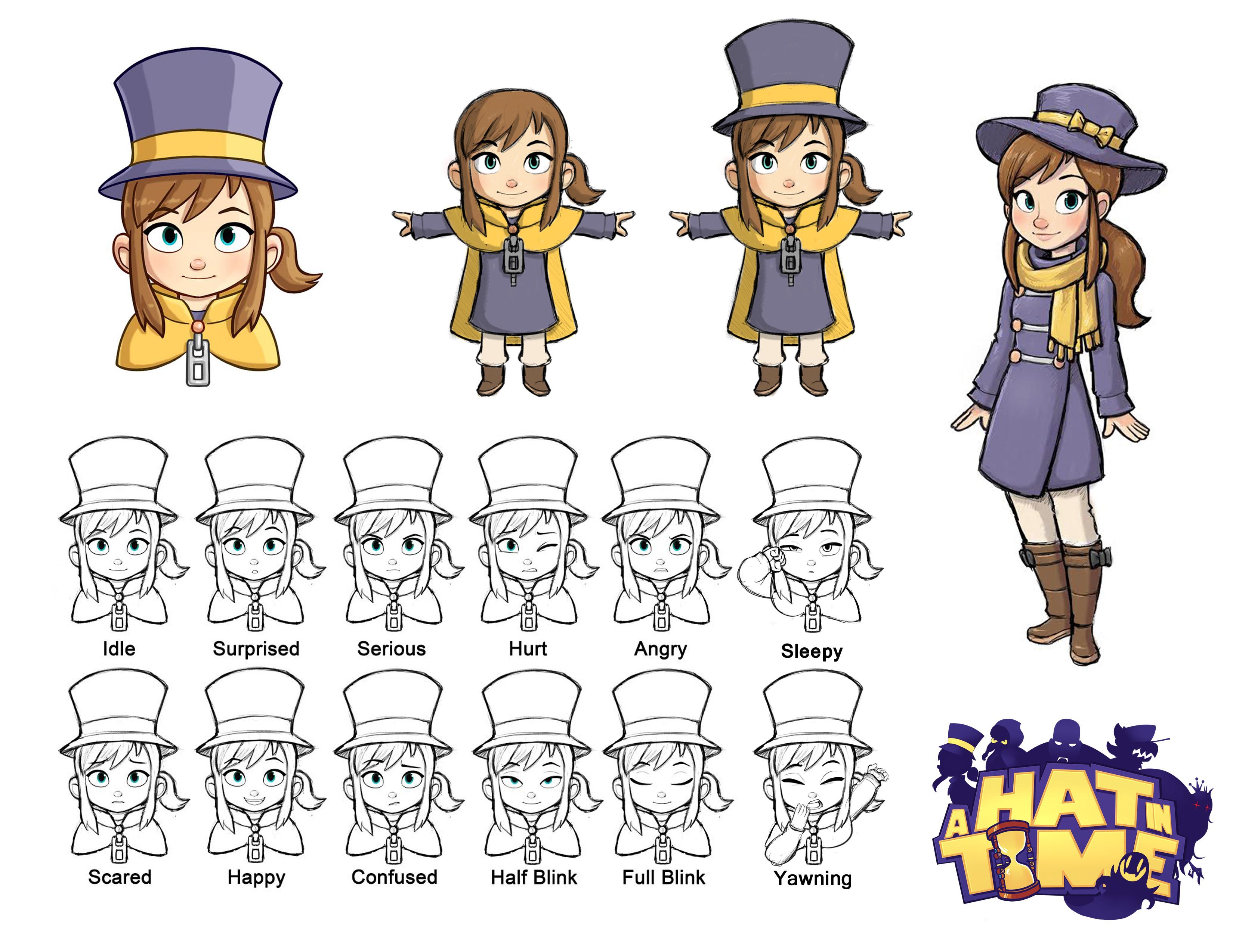 Hat Kid Character Design