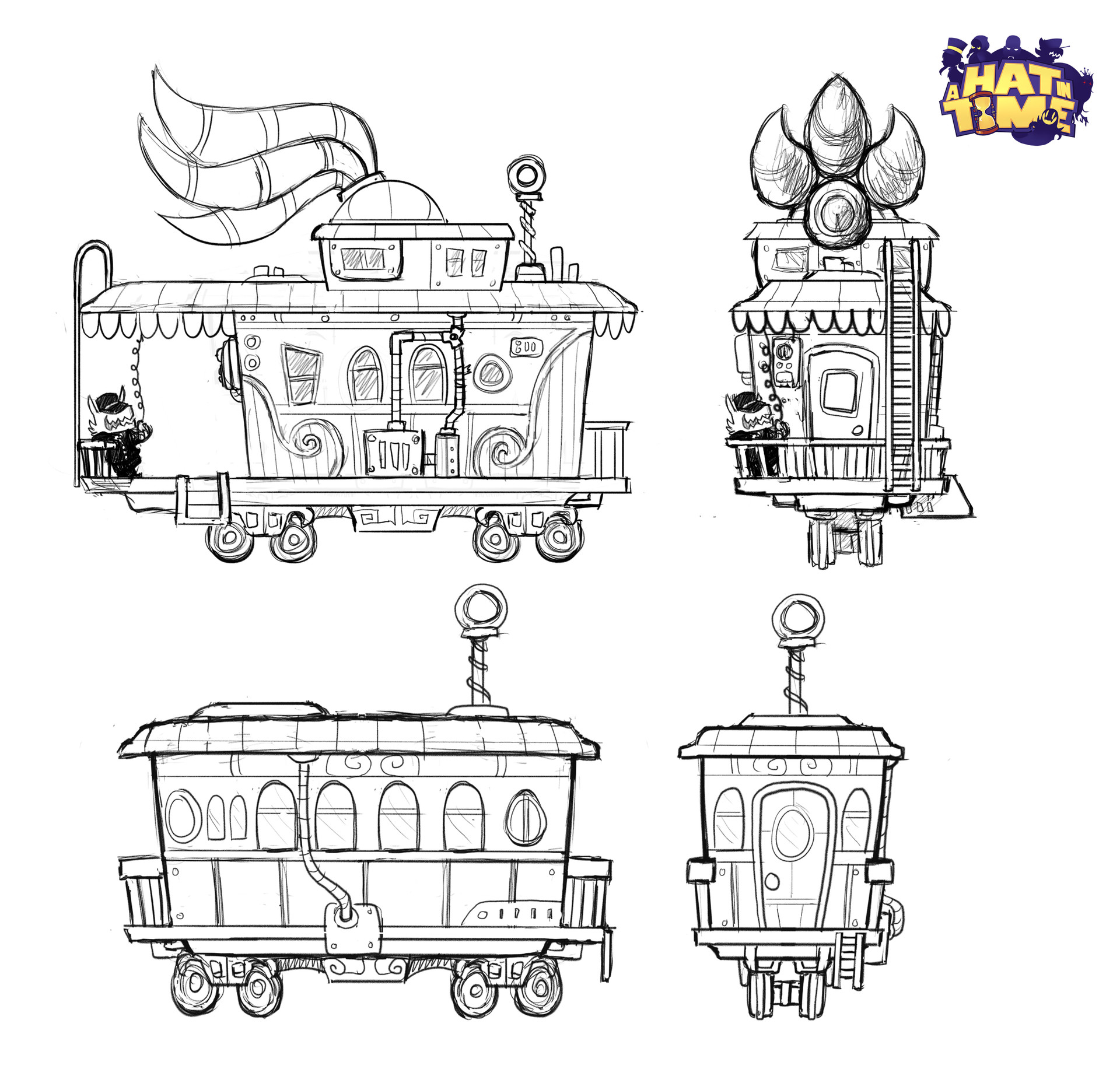 Luigi lucarelli train end and cabin concepts