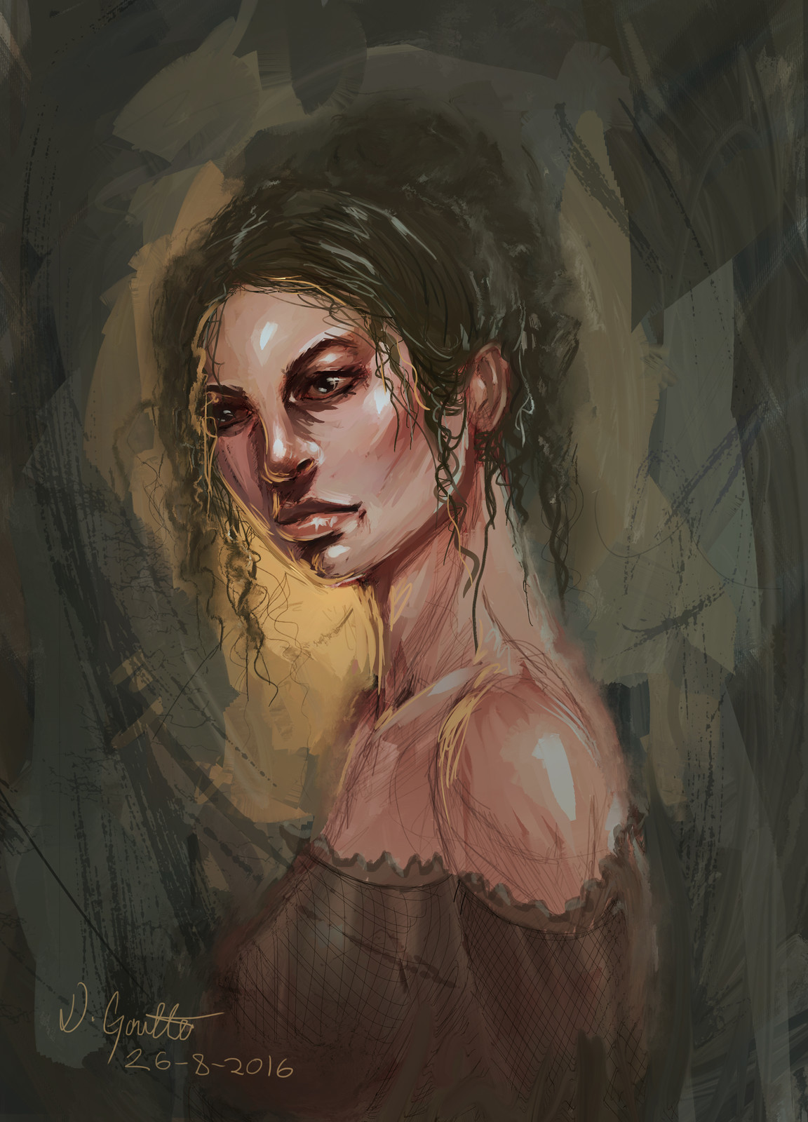 No Blending Portrait Painting